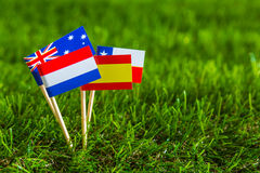 Paper cut of flags for Soccer championship 2014 , group B Royalty Free Stock Photography