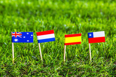 Paper cut of flags for Soccer championship 2014 , group B Stock Image