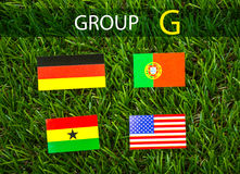 Paper cut of flags for Soccer championship 2014 , group G Royalty Free Stock Image
