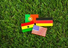 Paper cut of flags for Soccer championship 2014 , group G Stock Photos