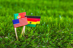 Paper cut of flags for Soccer championship 2014 , group G Royalty Free Stock Photos