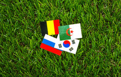 Paper cut of flags for Soccer championship 2014 , group H Stock Image