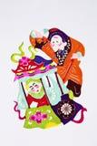 Paper-cut of folk dance Royalty Free Stock Photos