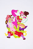 Paper-cut of folk dance Royalty Free Stock Photo