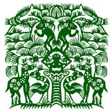 Paper-cut of forest stock images