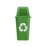 Paper cut of green recycle bin is can recycling to garbage for e Stock Image