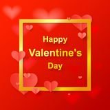 Paper cut happy valentine,s day, vector Stock Image