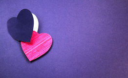 Paper cut heart background Stock Image