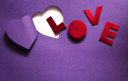 Paper cut heart background Stock Photos
