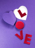 Paper cut heart background Royalty Free Stock Images