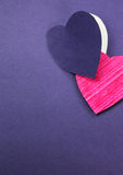 Paper cut heart Stock Images