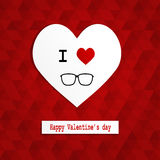Paper cut heart hipster style Stock Image