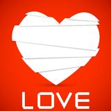 Paper cut into a heart. vector background. Royalty Free Stock Image