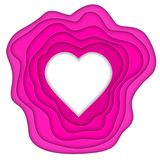 Paper cut heart Royalty Free Stock Image