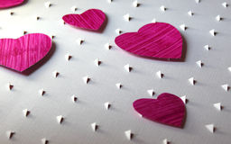 Paper cut hearts background Royalty Free Stock Photography