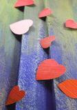 Paper cut hearts Stock Photography