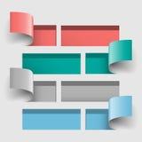 Paper cut horizontal bars open Royalty Free Stock Image