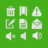 Paper Cut Icons for Web and Mobile Applications Set 5 Stock Photo