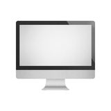 Paper cut of isolated luxurious desktop computer with blank scre Royalty Free Stock Photos