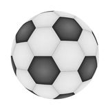 Paper cut of isolated soccer, football texture is black and whit Stock Photo