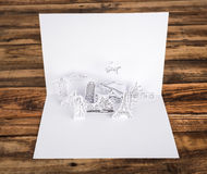 Paper cut  (Japan,France,Italy,New York,India,egypt) Royalty Free Stock Photography