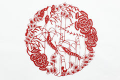 China red paper cutting Royalty Free Stock Photos