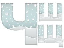 Paper cut letters Royalty Free Stock Photos