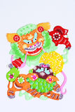 Paper-cut of lion dance Stock Photo
