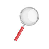 Paper cut of magnifier glass is equipment icon for magnify and s Stock Photos