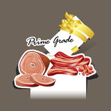Paper cut Meat and Sausages prime grade Stock Image