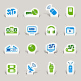 Paper Cut - Media Icons Royalty Free Stock Photos
