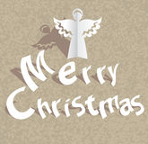 Paper cut Merry Christmas background Stock Photography