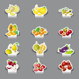 Paper cut mix fruit Stock Photos
