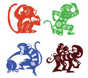 Paper cut monkey Royalty Free Stock Photography