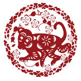 Paper cut monkey Royalty Free Stock Images