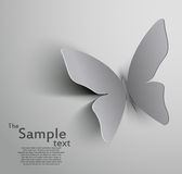 Paper cut out butterfly Stock Images