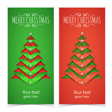 Paper Cut Out Christmas Tree And Text Stock Photography
