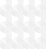 Paper cut out circles with continues stripes Royalty Free Stock Photo