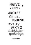 Paper cut out font. Paper naive cut out font royalty free illustration