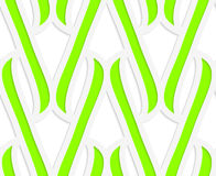 Paper cut out green integrals Royalty Free Stock Photo