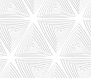 Paper cut out offset triangles Royalty Free Stock Photography