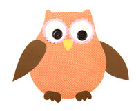 A paper cut out owl orange and brown Royalty Free Stock Photography