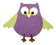 A paper cut out owl purple and green Stock Photos