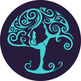 Paper cut out yoga tree Stock Photography