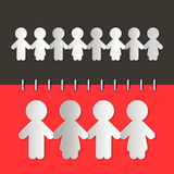 Paper Cut People Royalty Free Stock Images