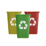 Paper cut of recycle bin is can recycling to garbage for environ Royalty Free Stock Images