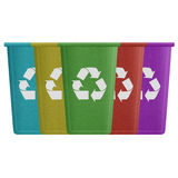 Paper cut of recycle bin is can recycling to garbage for environ Stock Photos