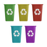 Paper cut of recycle bin is can recycling to garbage for environ Stock Photo