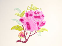 Paper-cut of rose Royalty Free Stock Photography