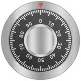 Paper cut of safe combination lock is metal dial for security pr Royalty Free Stock Photography